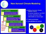 new aerosol climate modeling
