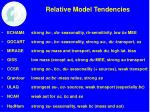 relative model tendencies