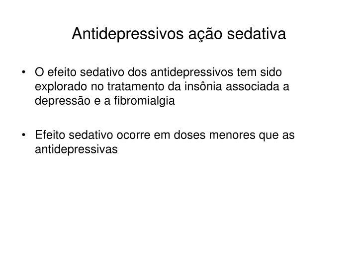 Antidepressivos ação sedativa
