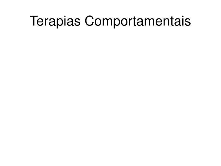 Terapias Comportamentais