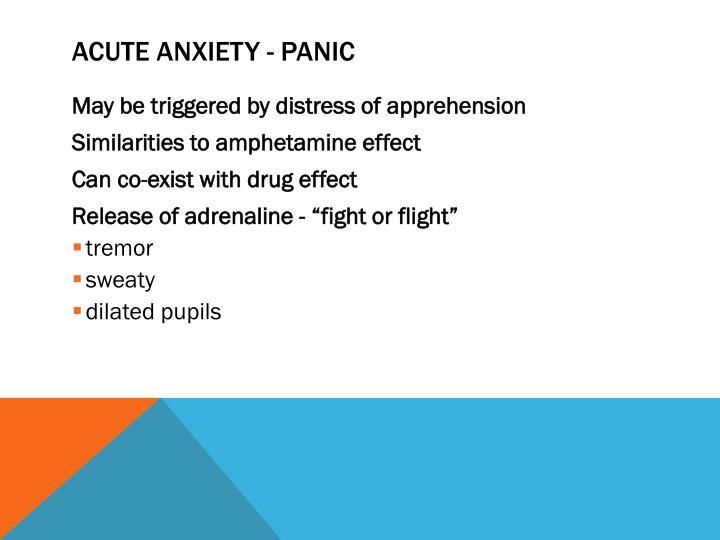 Acute Anxiety - Panic
