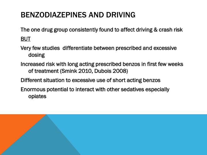 Benzodiazepines and driving