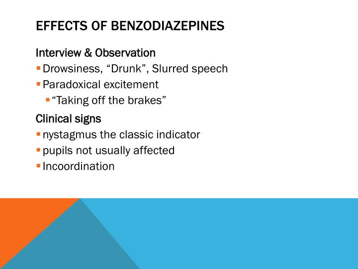 Effects of Benzodiazepines