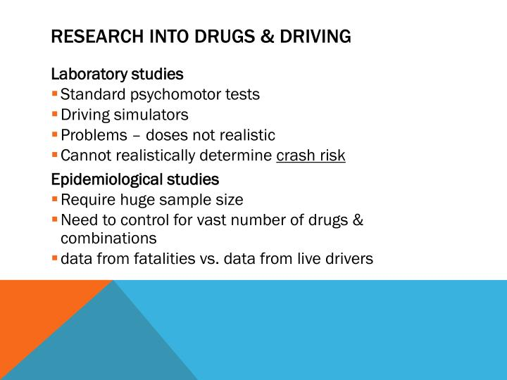 Research into Drugs & Driving