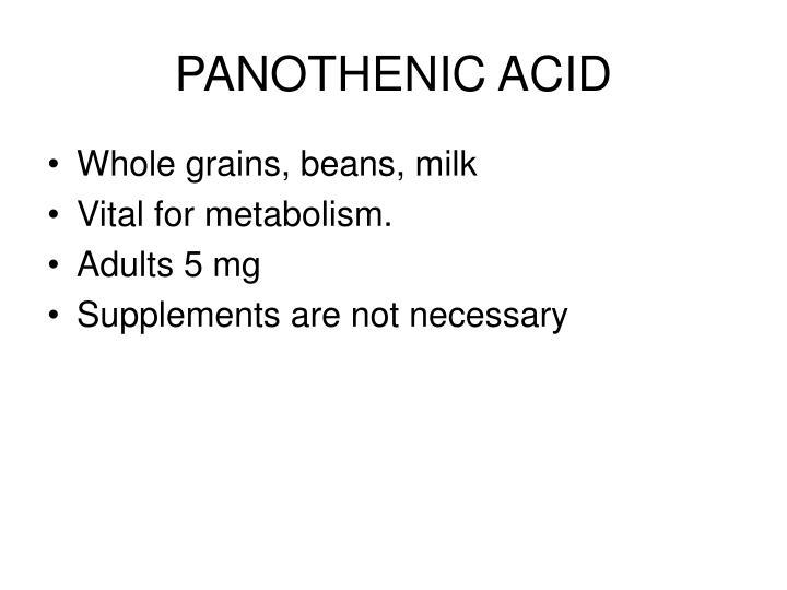 PANOTHENIC ACID