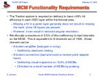 mcm functionality requirements