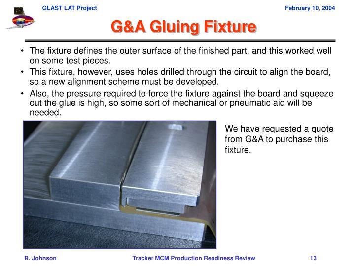 G&A Gluing Fixture