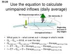 use the equation to calculate unimpaired inflows daily average3