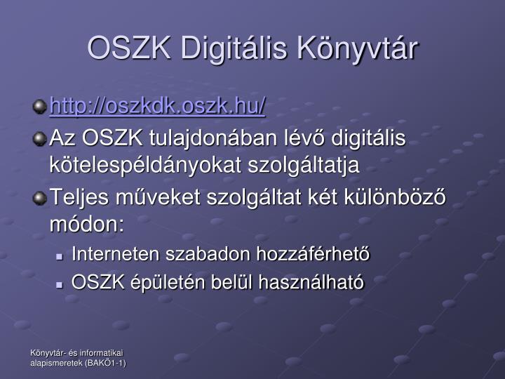 OSZK Digitális Könyvtár