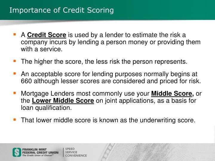 Importance of Credit Scoring