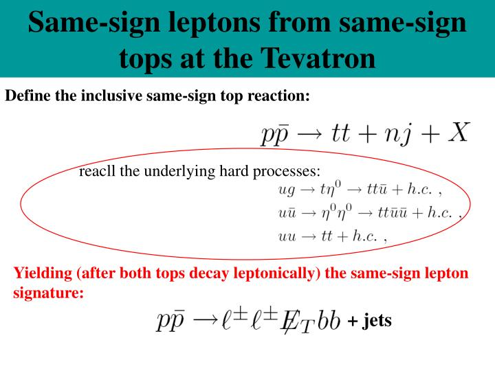 Same-sign leptons from same-sign tops at the Tevatron