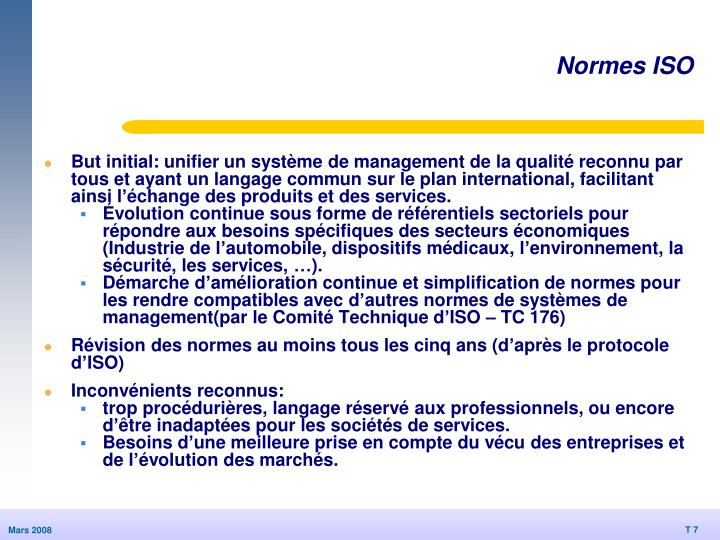 Normes ISO