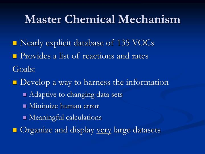 Master Chemical Mechanism