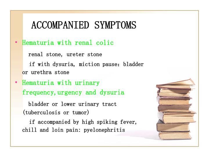 ACCOMPANIED SYMPTOMS