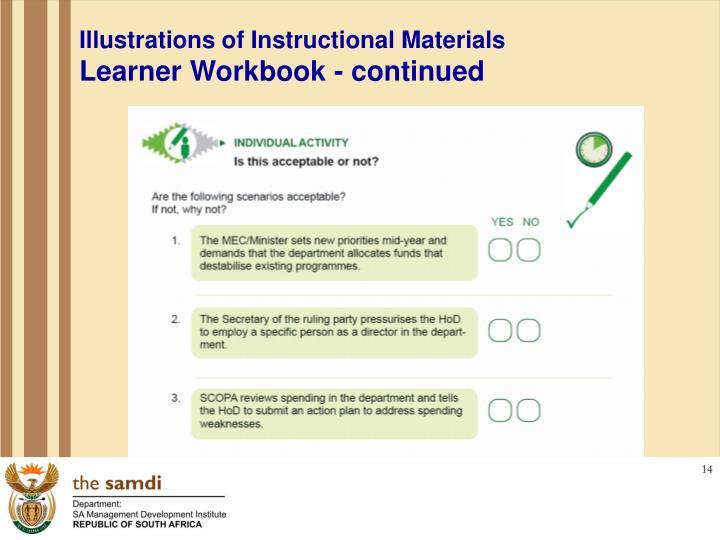 Illustrations of Instructional Materials