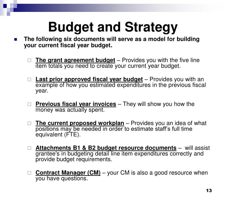 Budget and Strategy