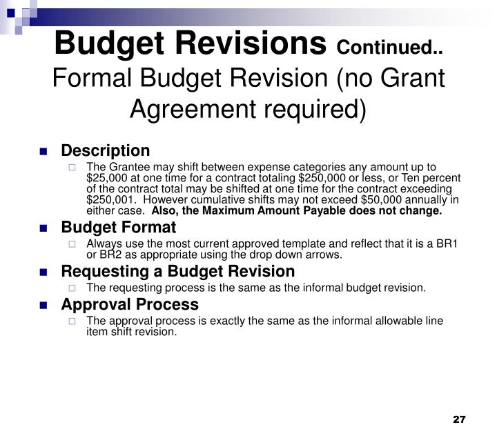Budget Revisions