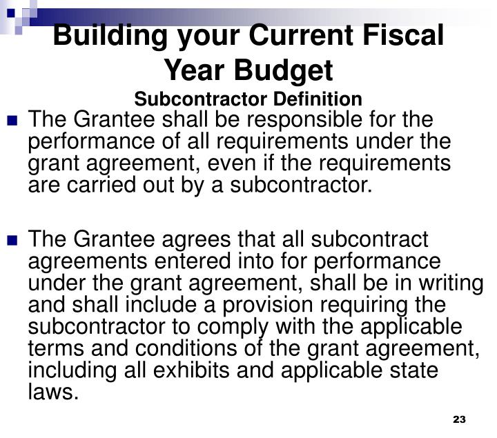 Building your Current Fiscal Year Budget