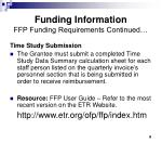 funding information ffp funding requirements continued1