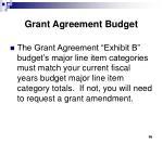 grant agreement budget