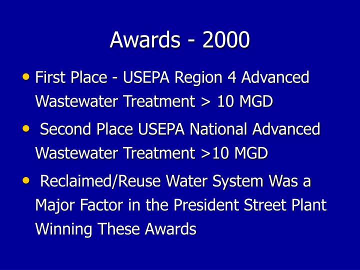 Awards - 2000
