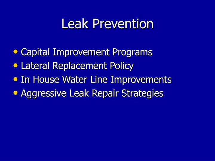 Leak Prevention