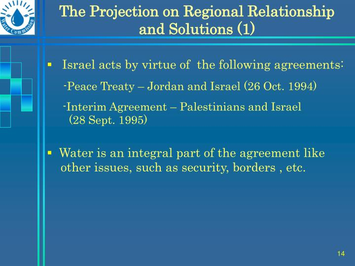 The Projection on Regional Relationship and Solutions (1)