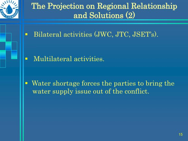 The Projection on Regional Relationship and Solutions (2)