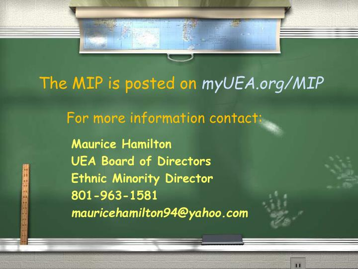 The MIP is posted on