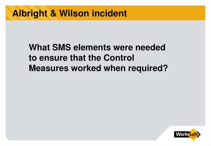 Albright & Wilson incident