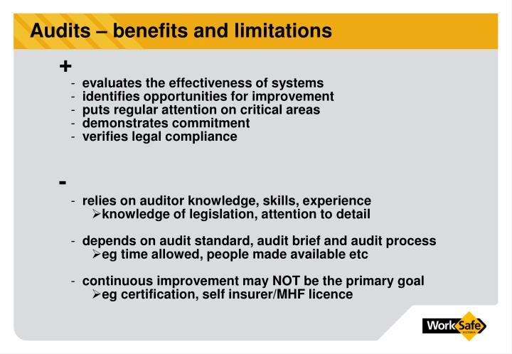 Audits – benefits and limitations
