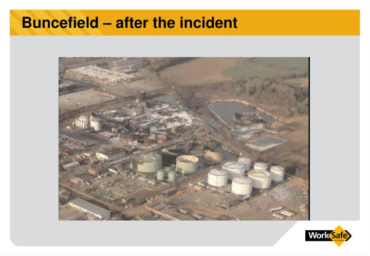 Buncefield – after the incident