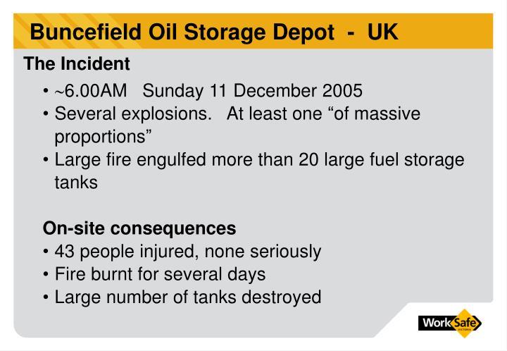 Buncefield Oil Storage Depot  -  UK