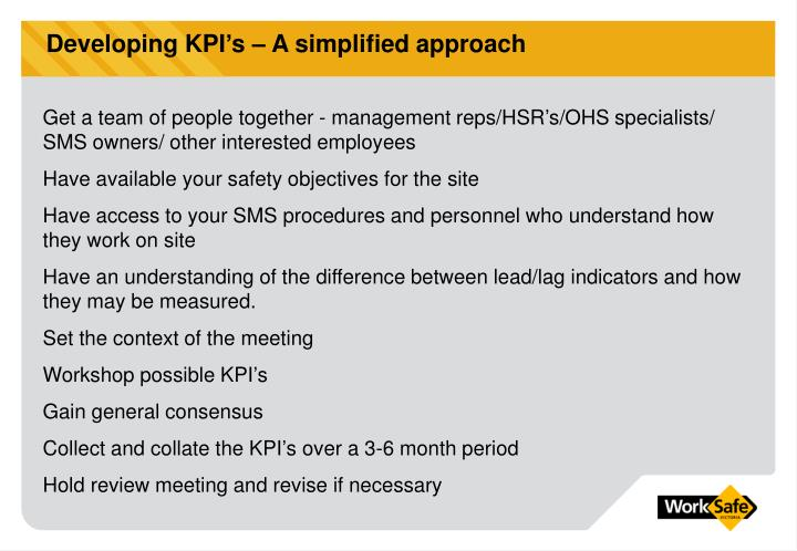 Developing KPI's – A simplified approach