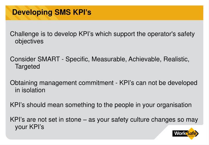 Developing SMS KPI's