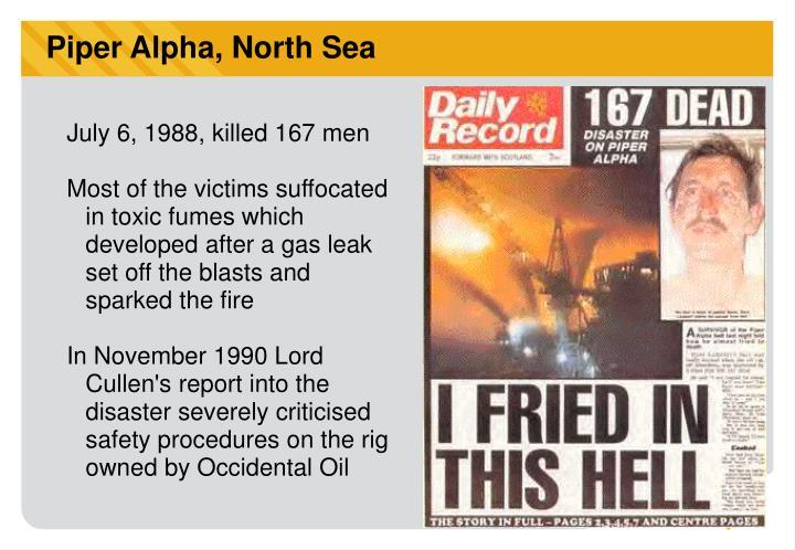 Piper Alpha, North Sea