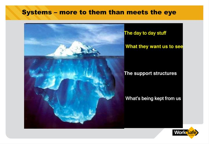 Systems – more to them than meets the eye