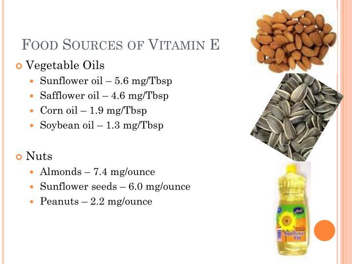 Food Sources of Vitamin E