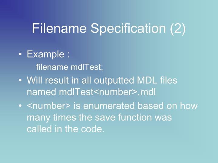 Filename Specification (2)