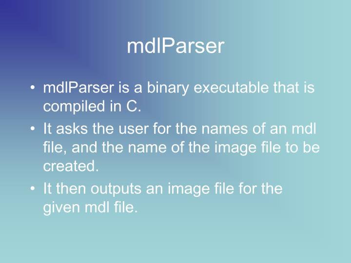 mdlParser