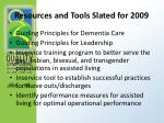resources and tools slated for 2009