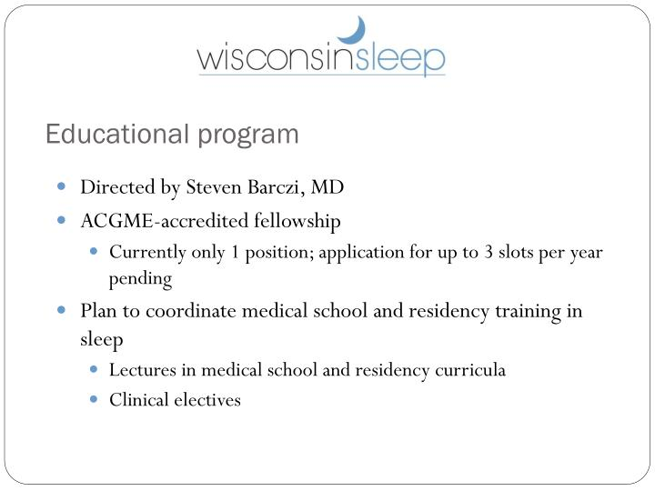Educational program