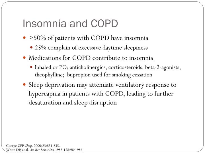 Insomnia and COPD