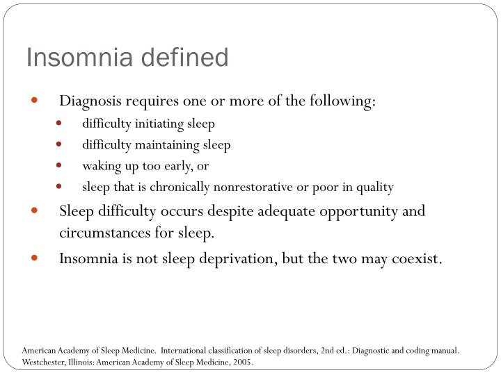 Insomnia defined