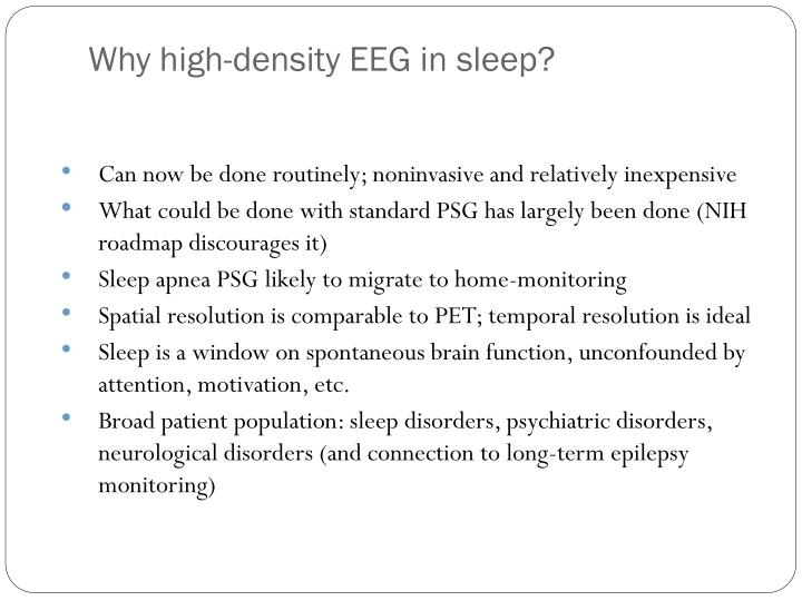 Why high-density EEG in sleep?
