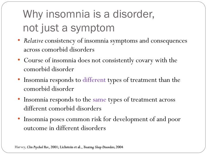 Why insomnia is a disorder,