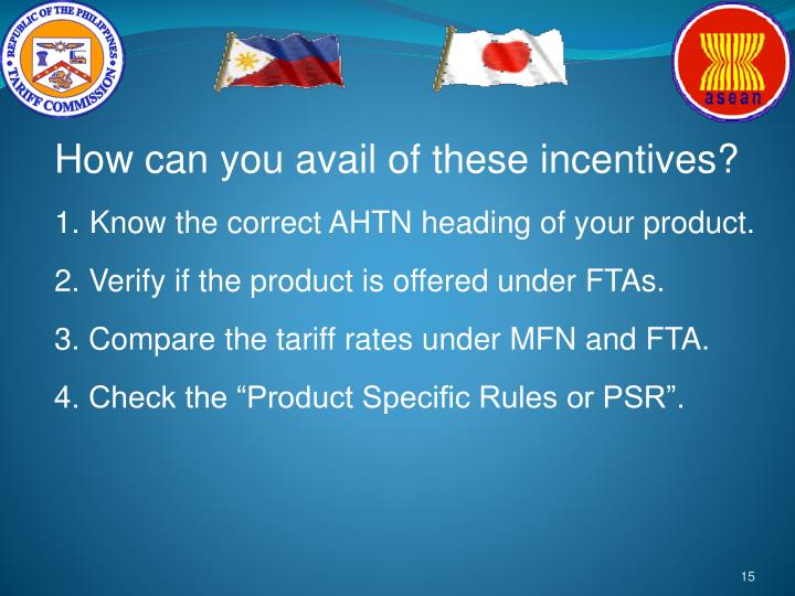 How can you avail of these incentives?