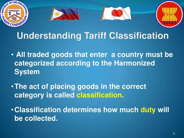 Understanding Tariff Classification