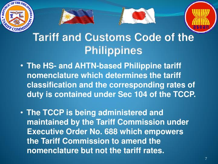 Tariff and Customs Code of the Philippines