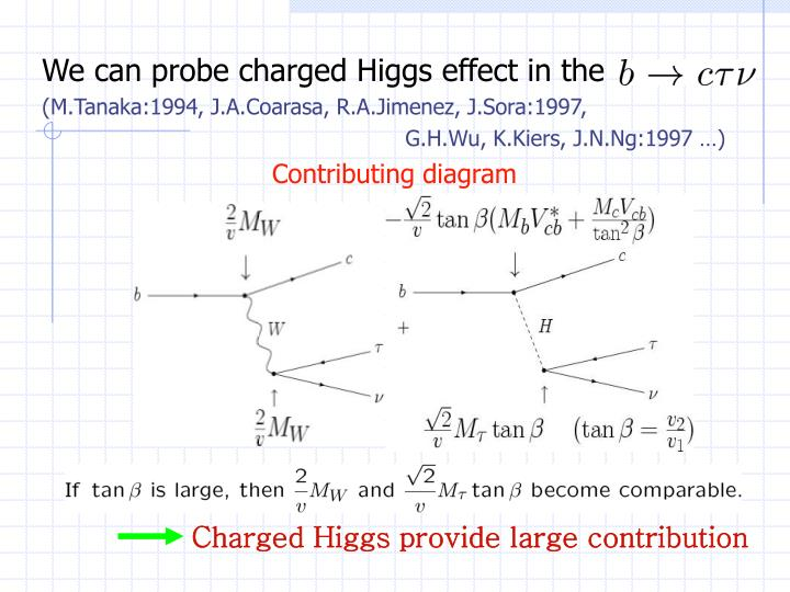 Charged Higgs provide large contribution